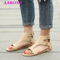 2019 Boom promotion explosion classic women's fashion casual flat heel with rivet large size sandals beige 38