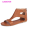2019 Boom promotion explosion classic women's fashion casual flat heel with rivet large size sandals brown 39