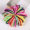 100 pieces/more than 3CM cute girl's ponytail hair clip hair decoration thin elastic band hair ring Mixed color 100