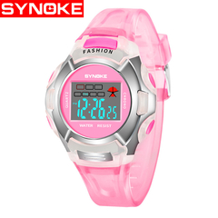 Children watch luminous waterproof sports boys and girls electronic watches red one size