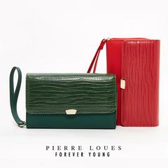 Ladies Clutch 2019 New Ladies Wallet Solid Color Clutch Bag red 10CM*4CM*17CM