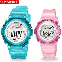 Children's Watch Waterproof Luminous Boys And Girls Elementary School Fashion Electronic Watch pink large