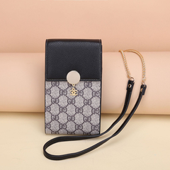 Retro Chain Lady Purse New Buckle Cross-body Shoulder All-purpose Mobile Phone Bag Women Hand Bag purple 19cm*10cm*3.5cm