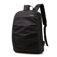 New Casual Fashion Computer Bag High Capacity Men's Bag High School Students Backpack Usb Backpack black one size