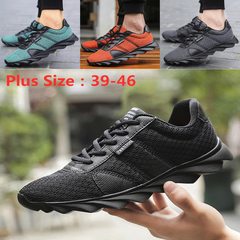 2019 New Comfortable Outdoor Sport Shoes Men Sneakers Breathable Running Shoes For Men Jogging Shoes dark grey 46