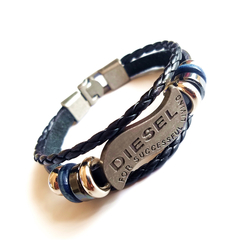 Multilayer Bracelet Men Casual Fashion Braided Leather Bracelets Bead Bracelet Punk Rock Men Jewelry One Color One Size