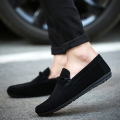 2019 New Men's Casual Shoes Doug Shoes Loafers Male Jogging Shoes Slip-Ons Comfortable black 42