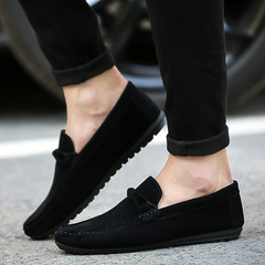2019 New Men's Casual Shoes Doug Shoes Loafers Male Jogging Shoes Slip-Ons Comfortable black 35