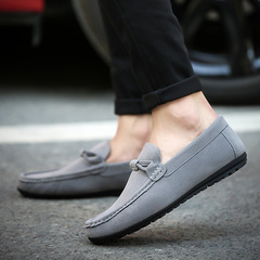 2019 New Men's Casual Shoes Doug Shoes Loafers Male Jogging Shoes Slip-Ons Comfortable gray 35