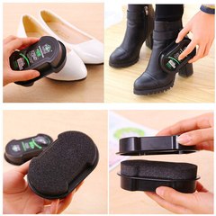 Shoe Care Double-Faced Polish Colorless Light Shoes Rub Leather Care Oil Sponge Shoe Wax Shoes Brush One Color As Picture
