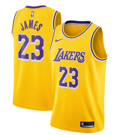 NBA Los Angeles Lakers Lebron James #23 Jerseys Home & Road Blue Yellow Jerseys S Yellow