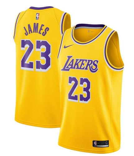 14ee94012b6 NBA Los Angeles Lakers Lebron James #23 Jerseys Home & Road Blue Yellow  Jerseys S