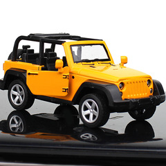 Convertible jeep alloy car model car accessories yellow 1:32