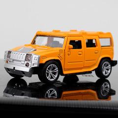 Hummer alloy car model car accessories yellow 1:32