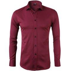 DENAXU Men's Leisure Bamboo Fiber Shirt red 2xl
