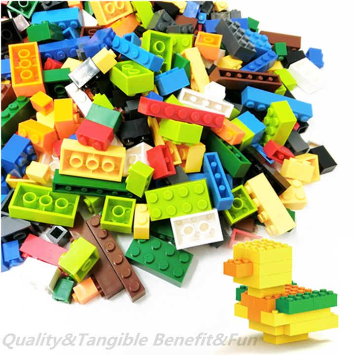 1000Pcs Building Blocks City DIY Creative Bulk Sets Compatible Legoings Classic Bricks Gift Toys as picture 500 pieces