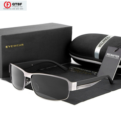 New Trend Polarized UV400 Protection Driving Men Sunglasses Male Outdoor Eyewear For Men grey one size