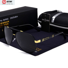 New Men Sunglasses Fashion Polarized Sunglasses Driving Sunglasses Outdoor Eyewear black one size
