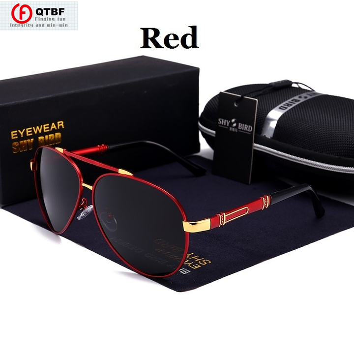 New Men Sunglasses Fashion Polarized Sunglasses Driving Sunglasses Outdoor Eyewear red one size