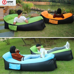 Air Bag High Quality Fast Inflatable Sofa Bed Portable Air Sofa Sleeping Bag Outdoor Beach Lounger blue