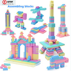 144-1008PCS Children Assembling Building Blocks Creative Bricks Gift Toys For Intellectual Training random color 144PCS-bag packaging