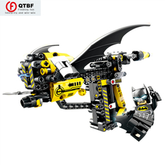 Creative DIY Building Block Gun Avenger Alliance Puzzle Building Block Assembly Toy Pistol Can Shoot Batman one size