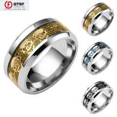 Stainless Steel Men Rings Of World Of Warcraft For Tribal Symbols Crazy Promotion Explosive Jewelry golden size 7