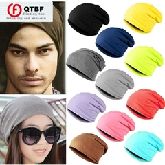 Spring Fashion Men Knitted Cap Casual Beanies Men Women Solid Color Hip-hop Hat as pictures one size-black