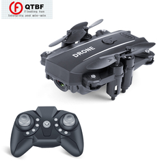 Foldable Mini Drone With Camera HD Remote Control Helicopter Pocket Drone kids Toys Mobile control black drone 1080P Wifi Camera