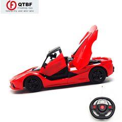 Fashion Cool Open Door 1:16 High Speed Remote Control Racing Car Gravity Induction Sports Car Toys as pictures 23CM-Red