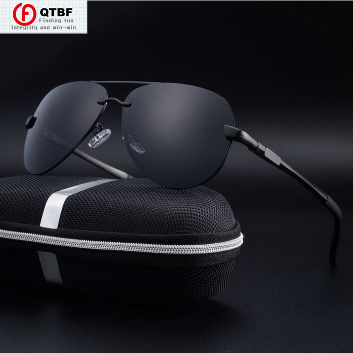 Promotion Polarized UV400 Sunglasses Luxury Novelty Sunglasses Men Glasses Ultraviolet-Proof Eyewear black-grey one size