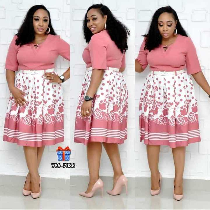 New style African Women clothing Dashiki fashion stretch Plus Size Floral Print Dress with belt size l pink