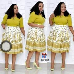 New style African Women clothing Dashiki fashion stretch Plus Size Floral Print Dress with belt size xxxl Yellow green