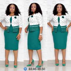 African Dresses for women New fashion Plus size African clothes 2019 beautiful office dresses xxl Green