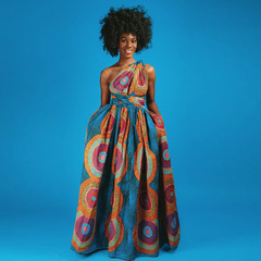 Long African Dresses Women's Traditional African Clothing Maxi Dress Wear Print Summer Clothes m no.3