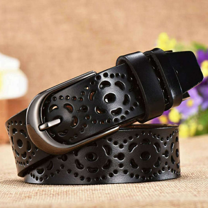 stable quality differently incredible prices New Fashion Genuine Leather Ceinture Femme Belt Drilling ...