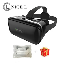 NICE L VR Virtual Reality Glasses 3D Goggles 1080P Headphone Helmet Smartphone black 1 1