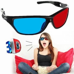 New virtual reality 3D glasses red blue lens video film relief plastic style 3D des lunettes Red and blue 1 1