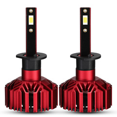 Novsight A500 N11 H1 Built-in Fan LED Headlight Bulbs Conversion Red  60W 10000LM