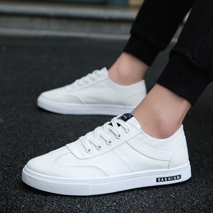 Sales price summer mens shoes mens tide shoe wild canvas casual shoes breathable cloth fashion shoes white 39