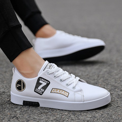 2019 new mens shoes summer white shoes breathable casual shoes mens sports shoes white 43