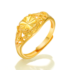Free size Korean fashion jewelry copper plated 18K gold ring classic fashion ladies ring women gift gold free size