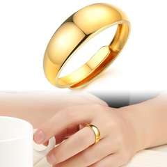 Free size Gold plated ring plated 18K gold ring gold plated bracelet gift for men women gold free size