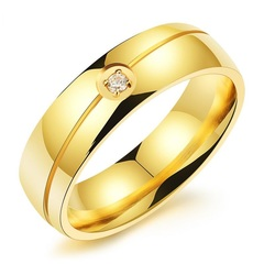 2019 new accessories wholesale new men titanium steel diamond ring gifts for men gold 6