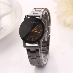 1PCS/Steel band couple table Geneva steel band lover watches steel band mens watches womens watches women as picture