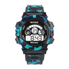 Electronic watch Fashion Mens Digital LED Analog Quartz Alarm Date Sports students Wrist Watches black one size