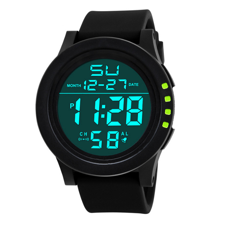 2019 Fashion Sport Watches Men Outdoor Digital Watches LED Waterproof Luxury Electronic Date Watches green one size