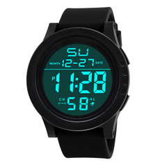 2019 Fashion Sport Watches Men Outdoor Digital Watches LED Waterproof Luxury Electronic Date Watches black one size