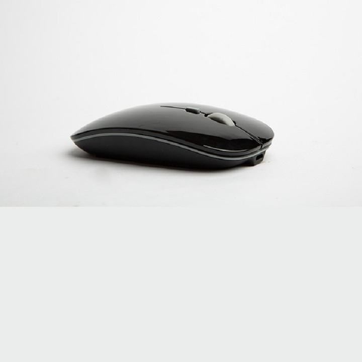 Ultra-thin new 2.4g office mouse wireless mute rechargeable mouse notebook home mouse black wireless