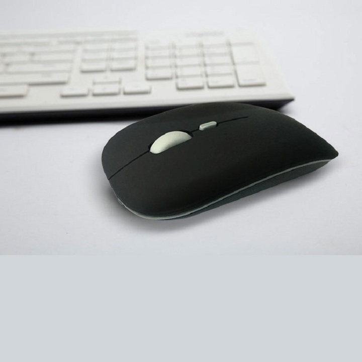 Ultra-thin new 2.4g office mouse wireless mute rechargeable mouse notebook home mouse matte black wireless